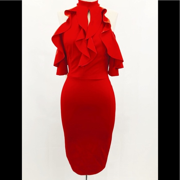 Dresses & Skirts - Red form fitting Dress